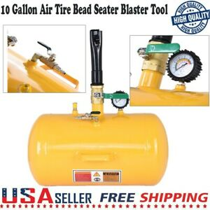 Large 10 Gallon Air Tire Bead Seater Blaster Seating Inflator Truck Atv Tractor