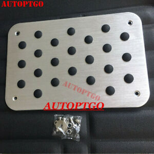 Universal Aluminium Antiskid Car Truck Floor Carpet Mats Foot Pedal Pad Footpads