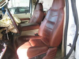 2008 2010 Ford F350 Sd King Ranch Front Back Leather Bucket Seats W Both Console