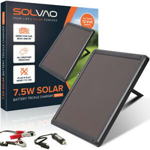 Solvao 7 5w Solar Trickle Charger Battery Maintainer For 12 Volt Batteries