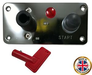 Chrome Racing Car 12v Battery Disconnect Switch Panel Push Button Engine Start