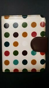 Compact Franklin Covey Polka Dot Binder W undated Weekly Planning Pages