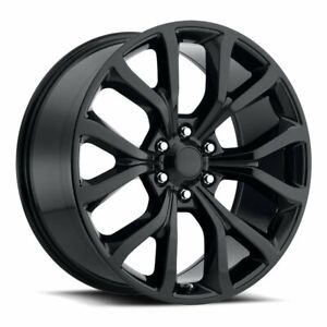 22 Fits Ford F150 Expedition Style Gloss Black Wheels Rims Set For 2004 2020