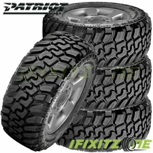 4 Patriot M t 33x12 50r17lt E 10pr 120q All Season Off road Truck Mud Tires