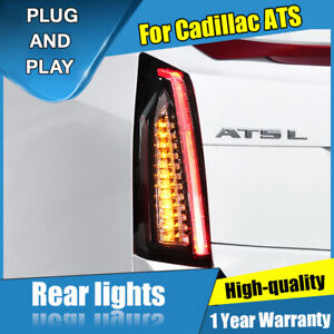For Cadillac Ats Dark New Led Rear Lamps Assembly Led Tail Lights 2014 2017