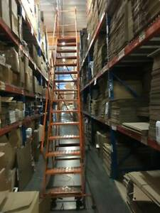 Louisville Rolling Warehouse Ladder 15 Step Pallet Racking Southern California