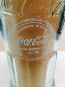 VINTAGE COCA COLA GLASS HAND MADE IN SPAIN 100% Recycled Glass 1/4