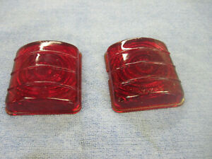 Vintage Pair 1951 52 Chevy Car Tail Light Lens