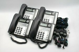 Lot Of 4 At t 1070 4 line Small Business Office System Used Phones accessories