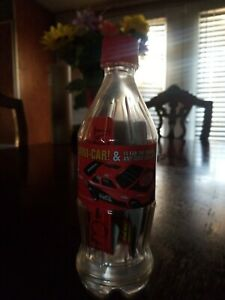EXTREMELY RARE UNSEALED COCA-COLA BANK BOTTLE WITH NASCAR MINI-CAR,