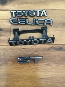Toyota Celica St Emblem Badge Lot Of 4 Oem