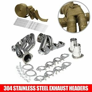 Stainless Exhaust Manifold Shorty Header Fits Big Block 396 402 427 454 502 V8