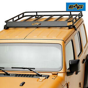 Eag Roof Rack Cargo Basket W Wind Deflector Fit 18 20 Jeep Wrangler Jl