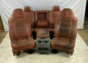 08 10 Ford F250 Super Duty King Ranch Front Rear Leather Seats Center Console