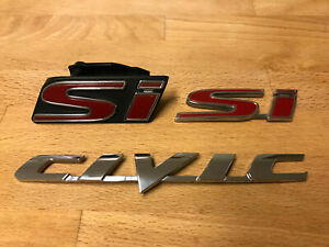 Honda Civic Si Oem Badges Emblems