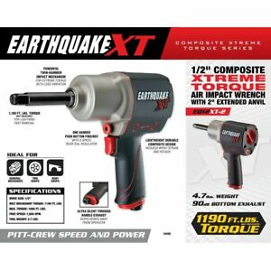 Earthquake Xt 2 Tool 1 2 In Composite Torque Air Impact Wrench Gun 1190 Lbs