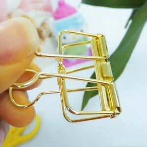 Brand New 48pcs School Office Stationery Binders Clips File Paper Clip Gold Tone