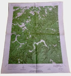 1967 Vintage Original Usgs Topographical Map Bell Farm Kentucky