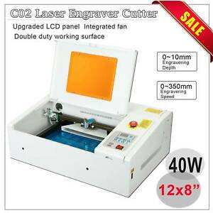 40w Laser Engraver Cutting Machine Protection Upgraded 300 200mm Lcd W usb Port