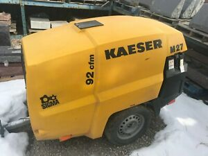 Towable Air Compressor Portable Kaeser Air Compressor Model M27 Low Hours