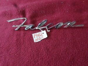 Nos 1962 Ford Falcon Only Fender And Tail Gate Emblem
