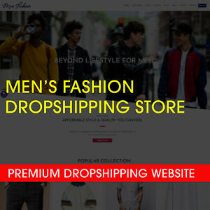 Turnkey Men s Fashion Dropshipping Business Premium Store sale Ready Automated