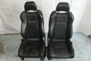 2004 Nissan 350z Z33 Roadster 139 Left Right Leather Complete Seats Black