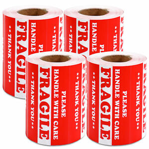 2000 Pieces 3 X 5 Handle With Care Fragile Label Sticker Self Adhesive Warning
