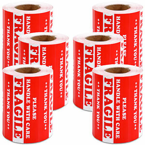 3000 Pieces 3 X 5 Handle With Care Fragile Label Sticker Self Adhesive Warning