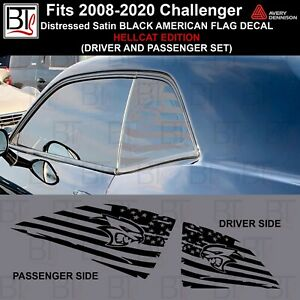 Style Hellcat Distressed For Dodge Challenger American Flag Window Decal 08 2020