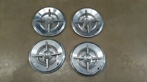1957 Dodge Lancer Set Of 4 14 knight Head Hubcap Hubcaps Hub Caps Nice Oem