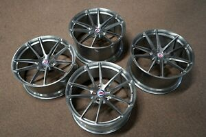 21 Hre P104 Forged Monoblock Wheels For Bmw 640i 650i M6 Brushed Dark Clear