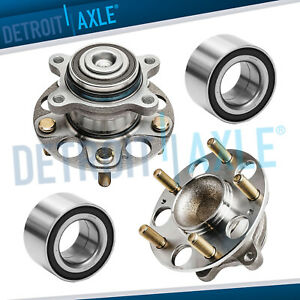 Front Rear Wheel Hub Bearing Assembly For 2006 2011 Honda Civic Ex 1 8l W Abs