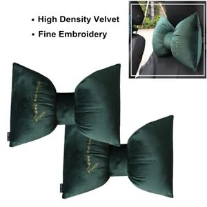 2pcs Cute Car Neck Support Pillow W Strap Comfortable For Office Travel Driving