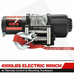 Fieryred 4500lbs Electric Winch Atv Ute Offroad