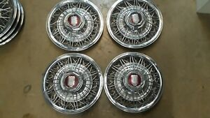 1979 1982 Ford Ltd Mercury Grand Marquis 14 Wire Hubcap Hub Cap Set Of 4 Oem