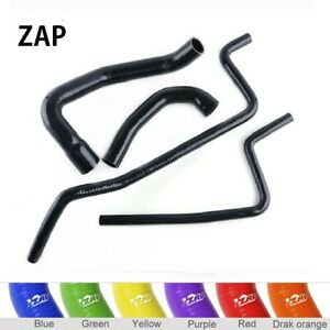 Zap For 1998 2001 Jeep Wrangler Tj 4 0l Silicone Radiator Heater Hose Kit Black