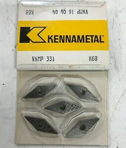 10 Pieces Kennametal K68 Grade Carbide Inserts Vnmp 331