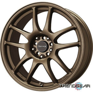 16 16x7 Drag Dr31 4 Lug Nut 4x100 4x114 3 Wheel Rim Cap