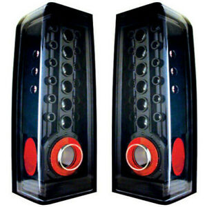 New Black Led Tail Light Set For 06 10 H3 Hummer Hu2800100 Hu2801100
