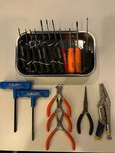 Lot 217 Husky Magnetic Tray With Small Screwdriver Set Matco Snap On Pliers T