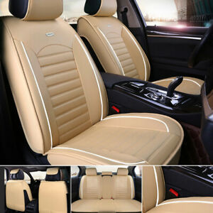 Car Seat Cover Set Cushion Protector Front Rear Split Bench All Season Universal