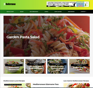 Mediterranean Diet And Foods Wordpress Website With Domain And 1 Year Hosting
