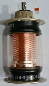 Lot Of 1 Kp1 8 4 100pf 5kv Variable Vacuum Capacitor Tested