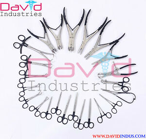 23 Pcs Orthopedic Pliers Surgical Veterinary Instruments