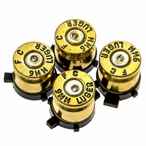 PS4 Bullet Buttons Gold Silver Made Using Real Once Fired 9MM Bullet Casi... New $13.99