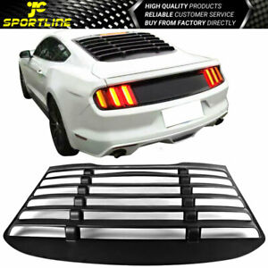 Fits 15 16 17 18 19 20 Ford Mustang Vintage Rear Window Louver Matte
