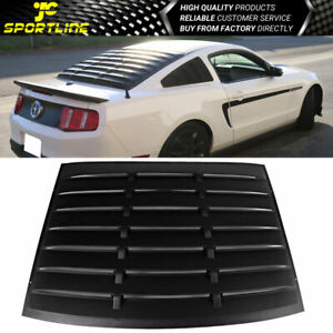 For 05 14 Ford Mustang Gt V6 V8 Abs Rear Window Louver Matte Black Cover