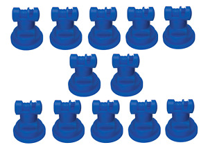 Pack Of 12 Teejet Wide Angle Flat Spray Tips Blue 110 Polymer Visiflo