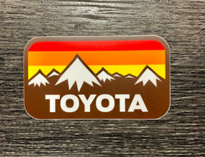 Toyota Snow Mtns W Vintage Stripes Sticker Decal Tundra Tacoma 4runner 4x4 Sr5